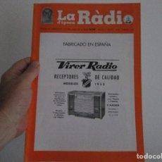 Radios antiguas: LA RADIO DE EPOCA NUMERO 32 ASOCIACION ACAR FEBRERO 2001. Lote 126570011