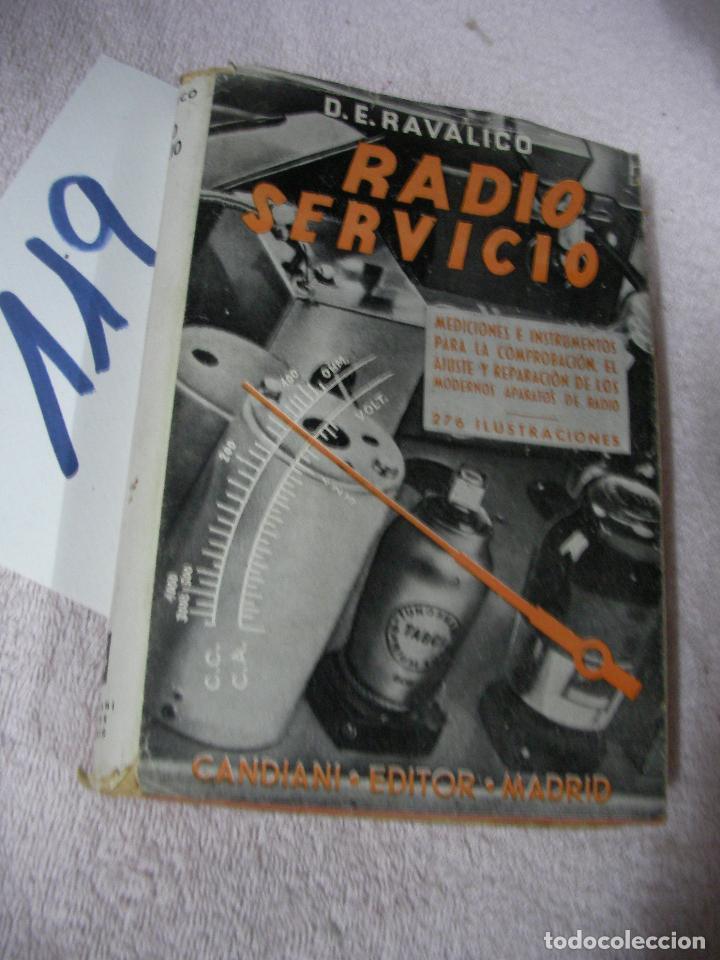 ANTIGUO LIBRO DE RADIO - RADIO SERVICIO - RAVALICO (Radios, Gramófonos, Grabadoras y Otros - Catálogos, Publicidad y Libros de Radio)