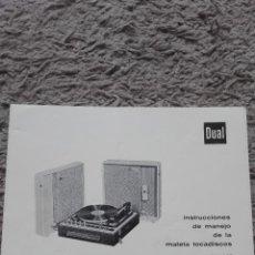 Radios antiguas: DUAL-INSTRUCCIONES DE MANEJO DE LA MALETA TOCADISCOS-BETTOR MARK 210. Lote 128011295