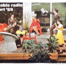 Radios antiguas: CATALOGO PUBLICIDAD DE RADIOS / RADIO TOCADISCOS TELEVISORES TELEFUNKEN AÑO 1969 EN FRANCÉS. Lote 128175399