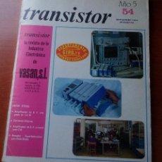 Radios antiguas: TRANSISTOR Nº 54 - SEPTIEMBRE 1973 - REVISTA CON ESQUEMAS Y DEMAS.... Lote 129001387