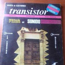 Radios antiguas: TRANSISTOR Nº 57 - DICIEMBRE 1973 - REVISTA CON ESQUEMAS Y DEMAS.... Lote 129001723