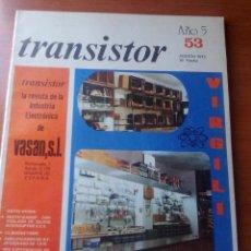 Radios antiguas: TRANSISTOR Nº 53 - AGOSTO 1973 - REVISTA CON ESQUEMAS Y DEMAS.... Lote 129001959