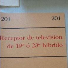 Radios antiguas: ANTIGUO FOLLETO.RECEPTOR DE TELEVISION 19 O 23 HIBRIDO.MINIWATT,1965. Lote 131196292