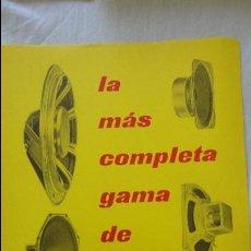 Radios antiguas: ANTIGUO CATALOGO.ALTAVOCES.MINIWATT.COPRESA S.A 1961. Lote 131196440