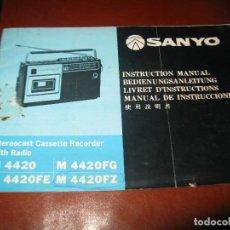 Radios antiguas: MANUAL RADIO SANYO M4420 M4420FG M4420FE M4420FZ ORIGINAL. Lote 131404042