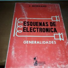 Radios antiguas: ELECTRÓNICA. GENERALIDADES. J. MORNAND. EDICIÓN PARANINFO DE 1970 RARA. Lote 131422362