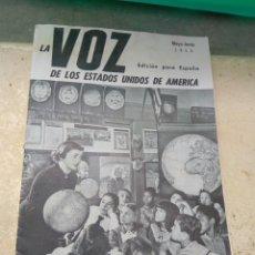 Radios antiguas: REVISTA LA VOZ DE LOS ESTADOS UNIDOS DE AMÉRICA 1952. Lote 131451746