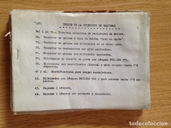 COLECCION DE ESQUEMAS-ESCUELA DE RADIO (Radios, Gramófonos, Grabadoras y Otros - Catálogos, Publicidad y Libros de Radio)