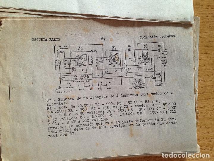 Radios antiguas: COLECCION DE ESQUEMAS-ESCUELA DE RADIO - Foto 6 - 132592958