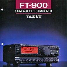 Radios antiguas: YAESU FT-900 - CATALOGO OFICIAL - JAPON - RADIOAFICIONADOS. Lote 133160722