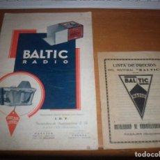Radios antiguas: CATALOGO DE BALTIC RADIO DE 1927 CON LISTA DE PRECIOS. RARO.. Lote 133670810