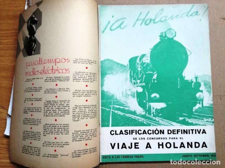 Radios antiguas: - RADIO Y LUZ - REVISTA MENSUAL EDITADA POR PHILIPS IBERICA.JULIO 1935 - Foto 2 - 135391761