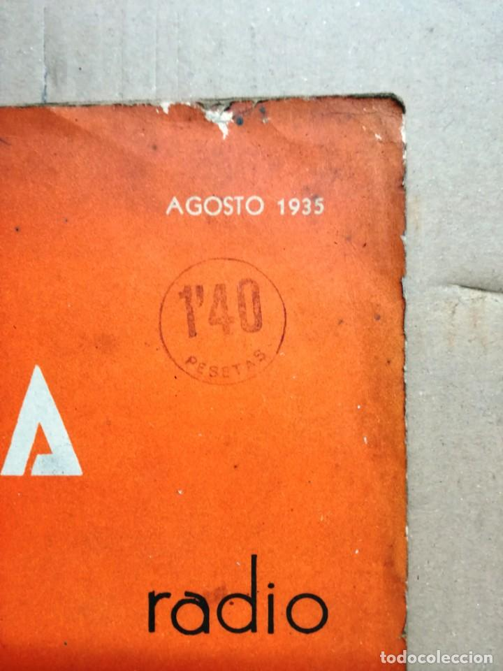 Radios antiguas: REVISTA TELEGRAFICA AGOSTO DE 1935.MUCHOS ANUNCIOS DE LA EPOCA. - Foto 2 - 133797774