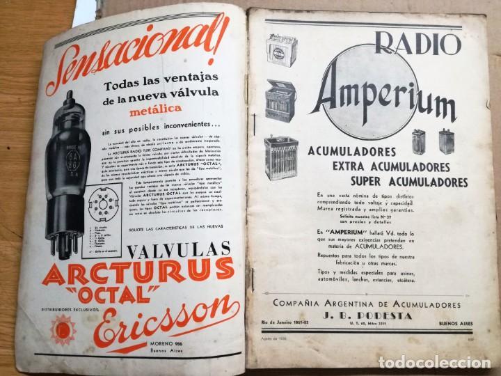 Radios antiguas: REVISTA TELEGRAFICA AGOSTO DE 1935.MUCHOS ANUNCIOS DE LA EPOCA. - Foto 3 - 133797774