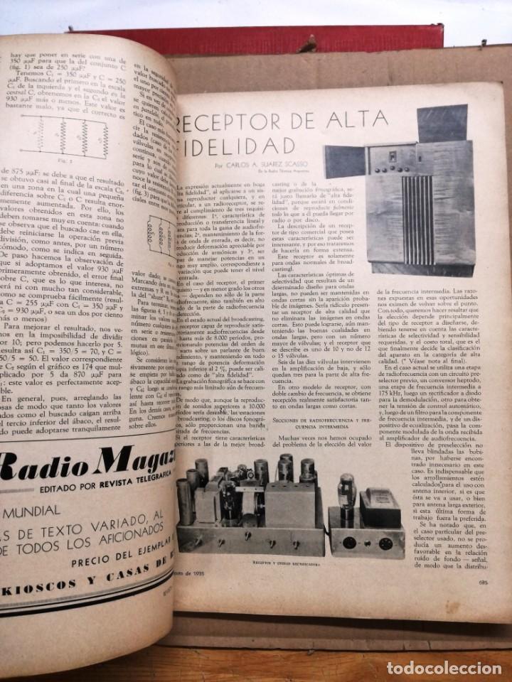 Radios antiguas: REVISTA TELEGRAFICA AGOSTO DE 1935.MUCHOS ANUNCIOS DE LA EPOCA. - Foto 5 - 133797774