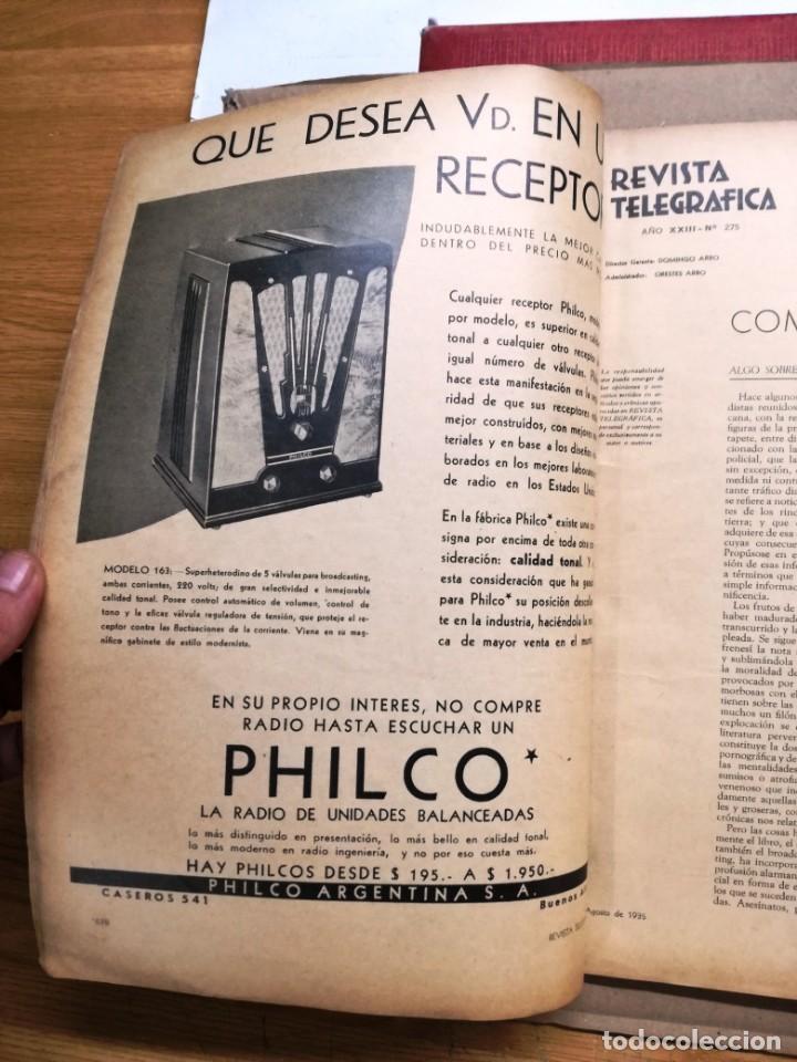 Radios antiguas: REVISTA TELEGRAFICA AGOSTO DE 1935.MUCHOS ANUNCIOS DE LA EPOCA. - Foto 6 - 133797774