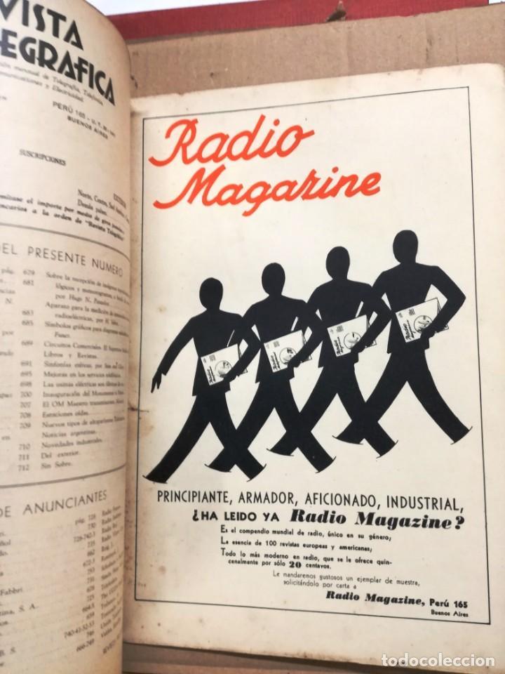 Radios antiguas: REVISTA TELEGRAFICA AGOSTO DE 1935.MUCHOS ANUNCIOS DE LA EPOCA. - Foto 8 - 133797774