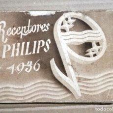 Radios antiguas: CATALOGO PHILIPS , 1936 , RADIOS, RECEPTORES ,ORIGINAL . Lote 133898110