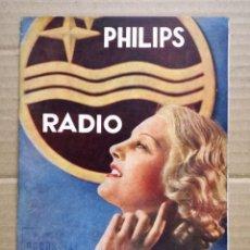 Radios antiguas: CATÁLOGO DE RADIOS PHILIPS 1935.LISTA DE PRECIOS.. Lote 133899182