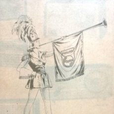 Radios antiguas: CATALOGO PARA TIENDA DE PRODUCTOS PHILIPS AÑOS 30.MUY RARO.. Lote 133904762