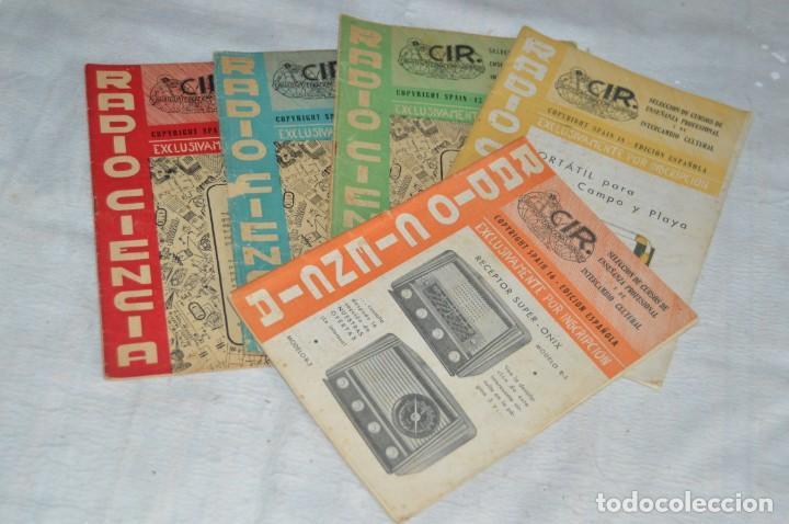 LOTE 5 REVISTAS RADIO CIENCIA - 11, 12, 13, 16 Y 18 - MULTITUD DE EXPERIMENTOS Y ESQUEMAS - ENVÍO24H (Radios, Gramófonos, Grabadoras y Otros - Catálogos, Publicidad y Libros de Radio)