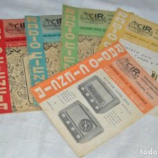 Radios antiguas: LOTE 5 REVISTAS RADIO CIENCIA - 11, 12, 13, 16 Y 18 - MULTITUD DE EXPERIMENTOS Y ESQUEMAS - ENVÍO24H. Lote 134751030
