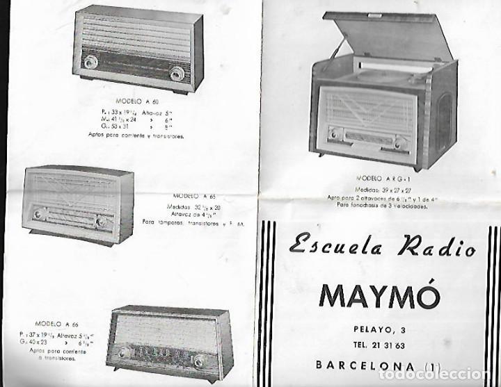 CATÁLOGO RADIOS MAYMO * (Radios, Gramófonos, Grabadoras y Otros - Catálogos, Publicidad y Libros de Radio)