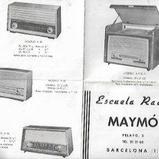 Radios antiguas: CATÁLOGO RADIOS MAYMO *. Lote 135106918