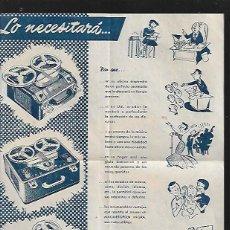 Radios antiguas: HOJA FOLLETO MAGNETÓFON * INGRA *. Lote 135113290