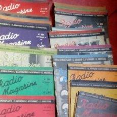 Radios antiguas: LOTE DE 27 REVISTAS DE RADIO MAGAZINE . Lote 135134130