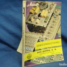 Radios antiguas: SEMICONDUCTORES - MINIWATT - ECO PALMA 1ª ED. 1973. Lote 135360730