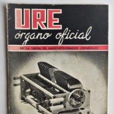 Radios antiguas: REVISTA URE ORGANO OFICIAL DE RADIOAFICIONADOS ESPAÑOLES, ENERO 1950. Lote 136269234