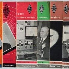 Radios antiguas: LOTE 9 REVISTAS RADIOAFICIONADOS URE AÑO 1953. Lote 136304426