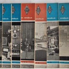 Radios antiguas: LOTE 10 REVISTAS RADIOAFICIONADOS URE AÑO 1952. Lote 136379390