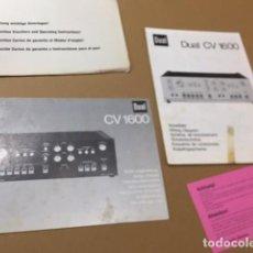 Radios antiguas: LOTE MANUAL DE INSTRUCCIONES DEL AMPLIFICADOR DUAL CV 1600. Lote 136489666