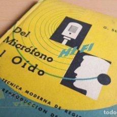 Radios antiguas: HI - FI DEL MICROFONO AL OIDO - G. SLOT - BIBLIOTECA TECNICA Y CIENTIFICA PHILIPS - 1957. Lote 137715186