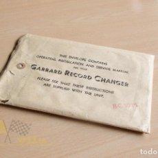 Radios antiguas: MANUAL DE INTRUCCIONES DE GARRARD RECORD CHANGER - MODEL RC 80M. Lote 137995670