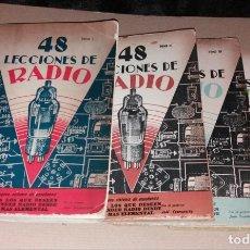 Radios antiguas: LIBROS. 48 LECCIONES DE RADIO. 4 TOMOS (COMPLETA), 50S, EDITORIAL HOBBY, JOSÉ SUSMANSCKY. Lote 140039950