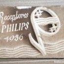 Radios antiguas: CATALOGO PHILIPS , 1936 , RADIOS, RECEPTORES ,ORIGINAL. Lote 140893642
