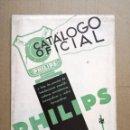 Radios antiguas: CATALOGO OFICIAL PHILIPS.AMPLIFICADORAS,MICROFONICAS,FONOGRAFICAS Y RADIO FONOGRAFICAS.AÑO 1932. Lote 140895442