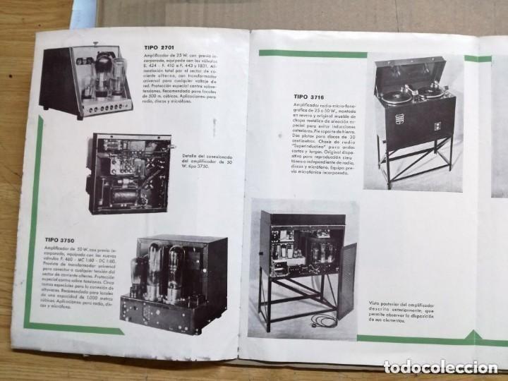 Radios antiguas: CATALOGO OFICIAL PHILIPS.AMPLIFICADORAS,MICROFONICAS,FONOGRAFICAS Y RADIO FONOGRAFICAS.AÑO 1932 - Foto 3 - 140895442