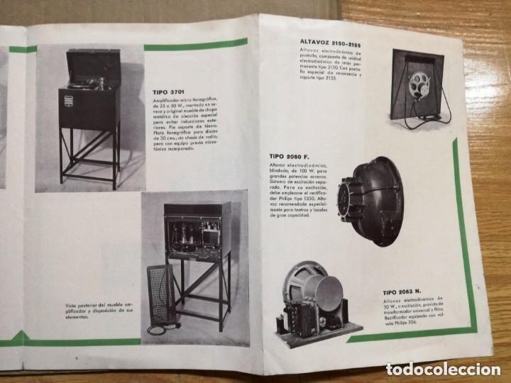 Radios antiguas: CATALOGO OFICIAL PHILIPS.AMPLIFICADORAS,MICROFONICAS,FONOGRAFICAS Y RADIO FONOGRAFICAS.AÑO 1932 - Foto 4 - 140895442