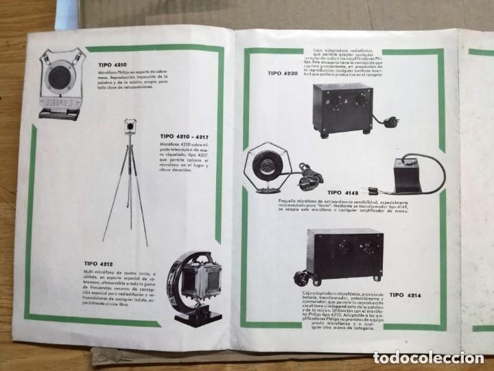 Radios antiguas: CATALOGO OFICIAL PHILIPS.AMPLIFICADORAS,MICROFONICAS,FONOGRAFICAS Y RADIO FONOGRAFICAS.AÑO 1932 - Foto 5 - 140895442