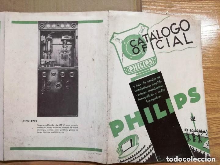 Radios antiguas: CATALOGO OFICIAL PHILIPS.AMPLIFICADORAS,MICROFONICAS,FONOGRAFICAS Y RADIO FONOGRAFICAS.AÑO 1932 - Foto 6 - 140895442