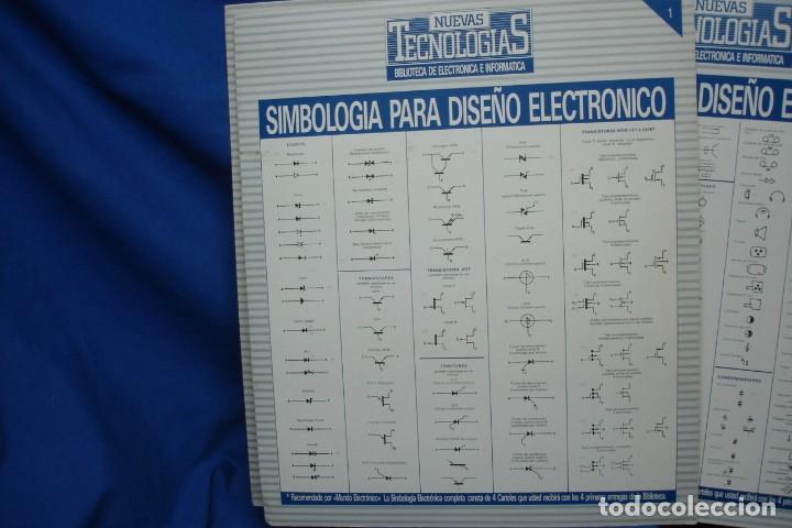 Radios antiguas: -SIMBOLOGIA PARA DISEÑO ELECTRÓNICO - 4 CARTELES - NUEVAS TECNOLOGÍAS - Foto 2 - 141904922