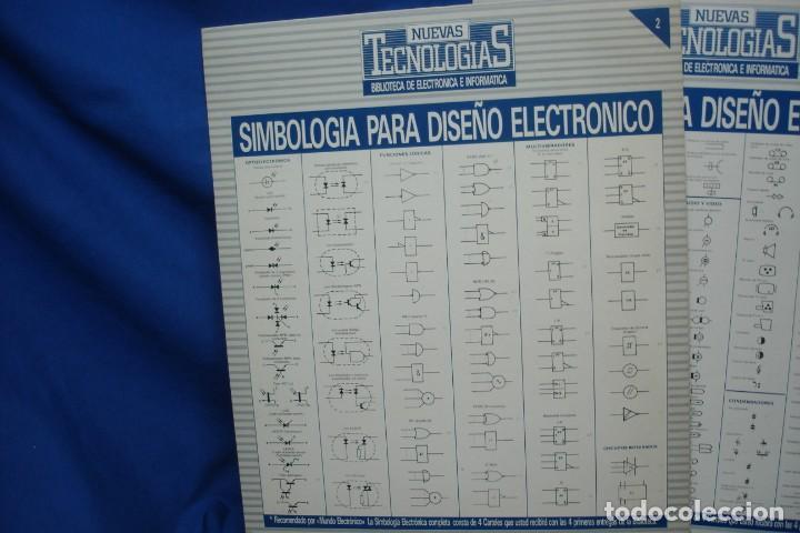 Radios antiguas: -SIMBOLOGIA PARA DISEÑO ELECTRÓNICO - 4 CARTELES - NUEVAS TECNOLOGÍAS - Foto 3 - 141904922