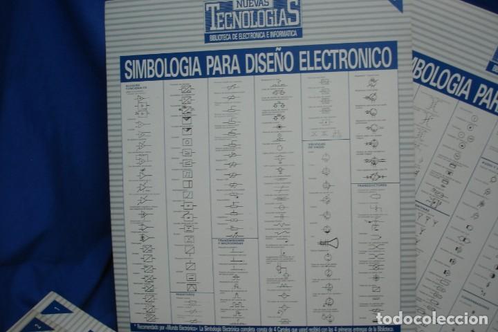 Radios antiguas: -SIMBOLOGIA PARA DISEÑO ELECTRÓNICO - 4 CARTELES - NUEVAS TECNOLOGÍAS - Foto 4 - 141904922