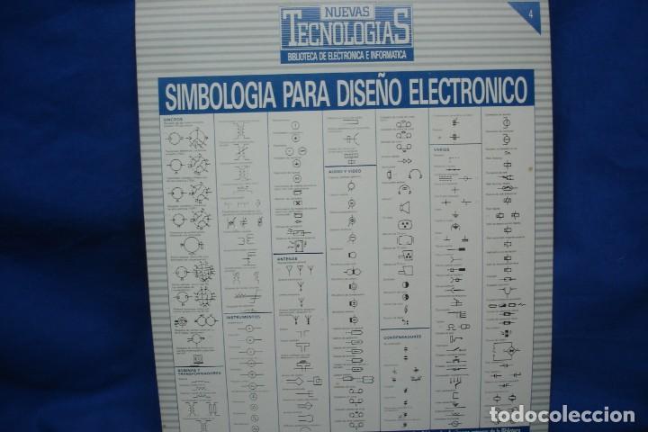 Radios antiguas: -SIMBOLOGIA PARA DISEÑO ELECTRÓNICO - 4 CARTELES - NUEVAS TECNOLOGÍAS - Foto 5 - 141904922