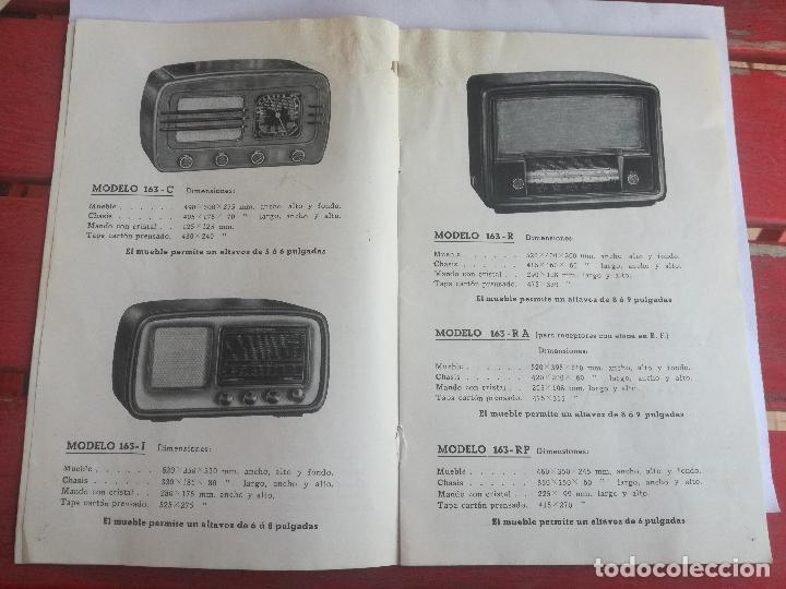 Radios antiguas: MODELOS DE RECEPTORES Y RADIOGRAMOLAS PARA 1949 ANTIGUA CASA BRUNET - ANTIGUO CATALOGO RADIOS - Foto 3 - 142701302